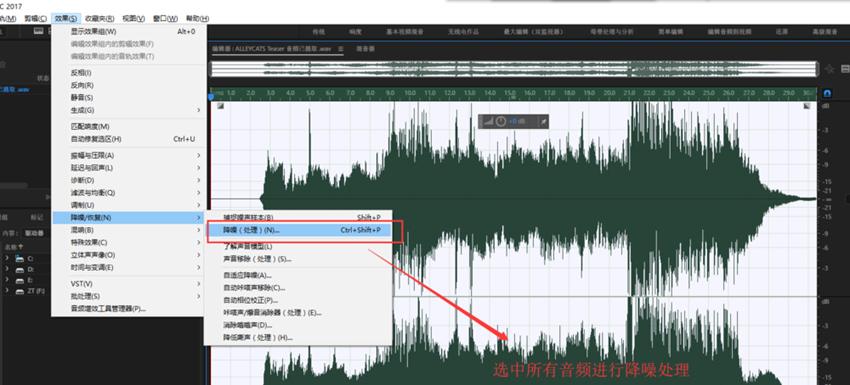 AE软件降噪处理